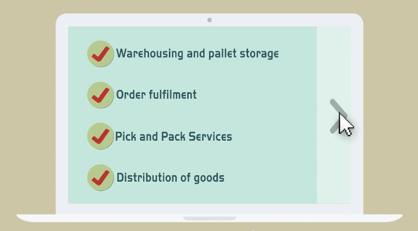 Fulfilment warehousing for online businesses.