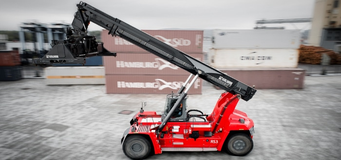 Kalmar unveils K-Motion solution for reachstackers: All the power, 40% less fuel.