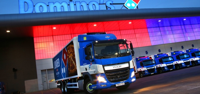 DAF deal bags Total Reefer pizza the action at Domino's.