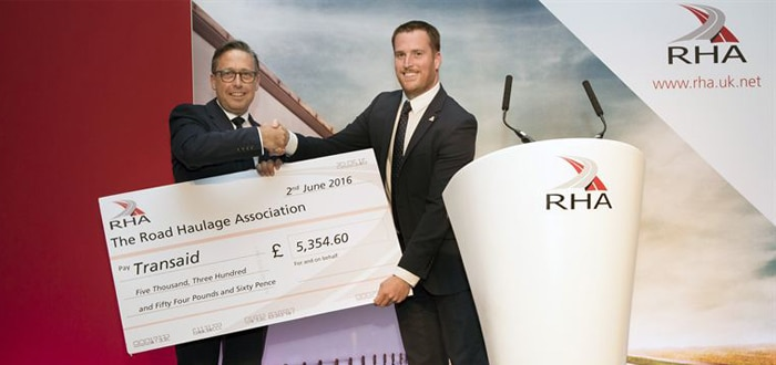 RHA with a cheque