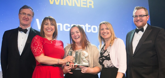Wincanton honored with three prestigious wins at last night's HR Excellence Awards
