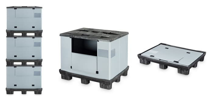 IMHX 2016 News: The CabCube 1210 Collapsible Sleeve Container for Large Volume Transportation.