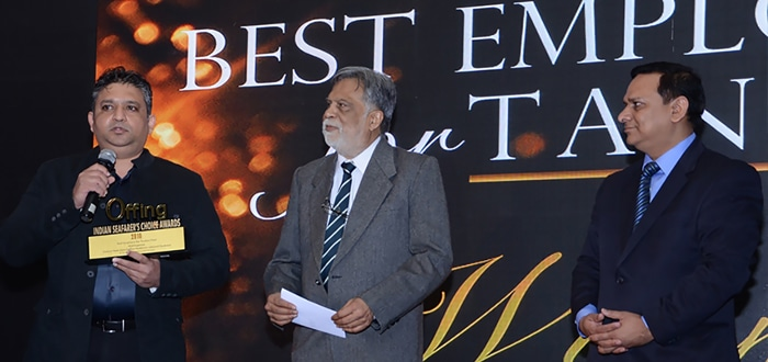"""Thome Shipping India has won the award for """"The Best Employer for Tanker Fleet – (Mid Segment)"""" at the Indian Seafarers' Choice Awards 2015."""