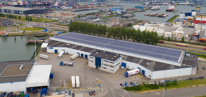 Samskip, frigoCare and Zon Exploitatie Nederland to launch the largest solar panel system in Rotterdam.