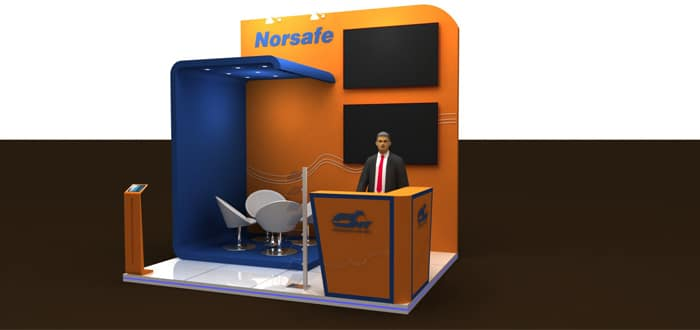 Norsafe Dubai showcasing lSA services and lifting inspection at Seatrade Middle East.