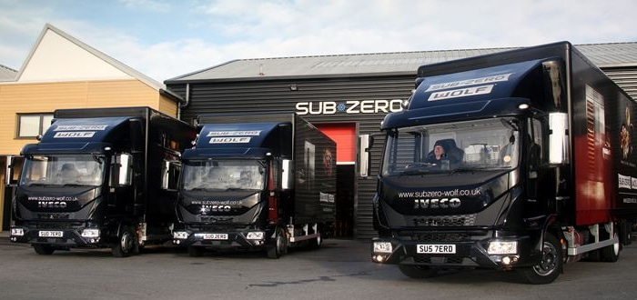 Top spec Iveco Eurocargos cater perfectly to Sub Zero & Wolf UK.