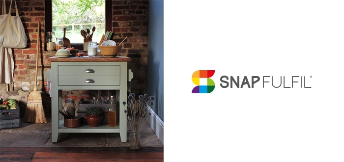 image of snap fulfil logo and cotswold furniture