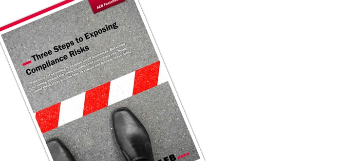 Three steps to exposing compliance risks: free fact sheet from AEB.