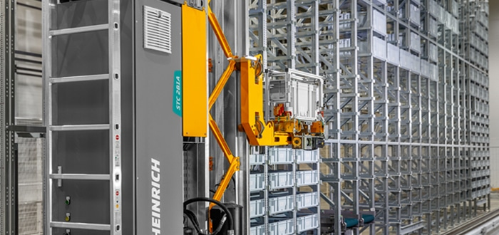 Jungheinrich Miniload STC 2B1A: Automated Small Parts Warehouse For VAHLE Group In Kamen.