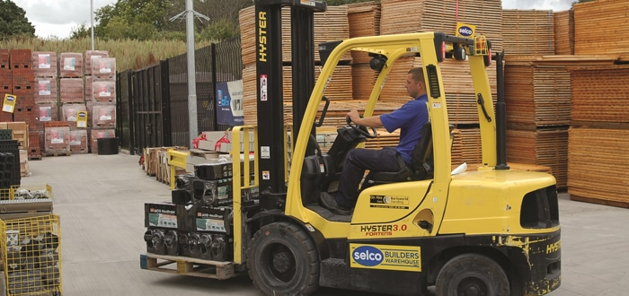 Image of Hyster Truck in action