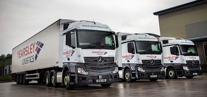 Frozen Food Logistics Specialist's Mercedes-Benz Actros Are Too Hot For The Competition.