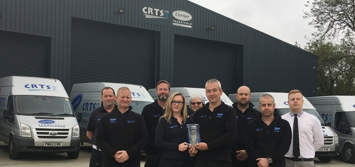 image of Carrier Transicold Cornwall team with the 2018 Carrier Safe