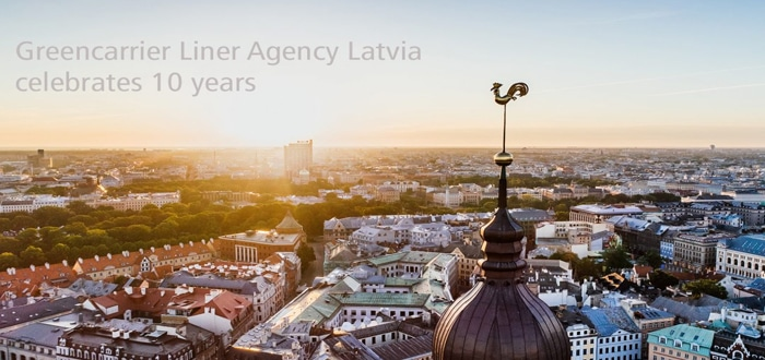 Greencarrier Liner Agency In Latvia Celebrates 10 years.