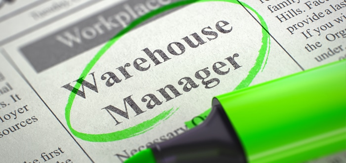 Image of a warehouse manager advert