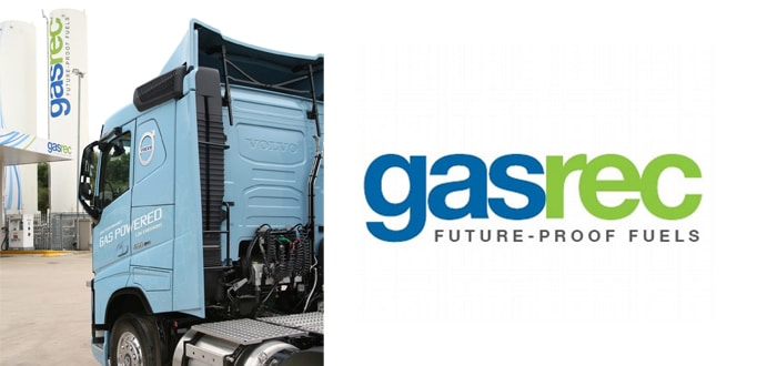 Gasrec Offers Fleets High CO2 Savings On LNG.