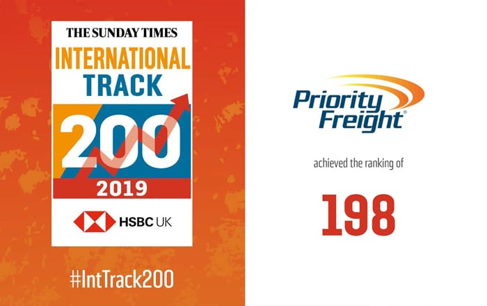 Priority Freight - One Of The Sunday Times Fastest Growing Companies In The UK.