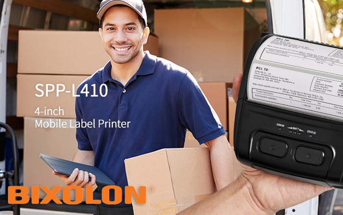 Bixolon Launches SPP-L410 Mobile Label Printer To The European Market.