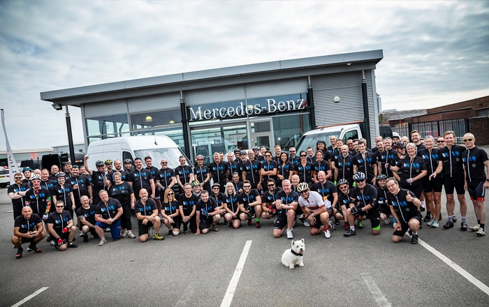 Pedal Power Carries Big-Hearted Mercedes-Benz Vans Cyclists To A New Charity Triumph.
