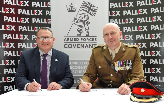 Pall-Ex Pledge To Support Armed Forces.