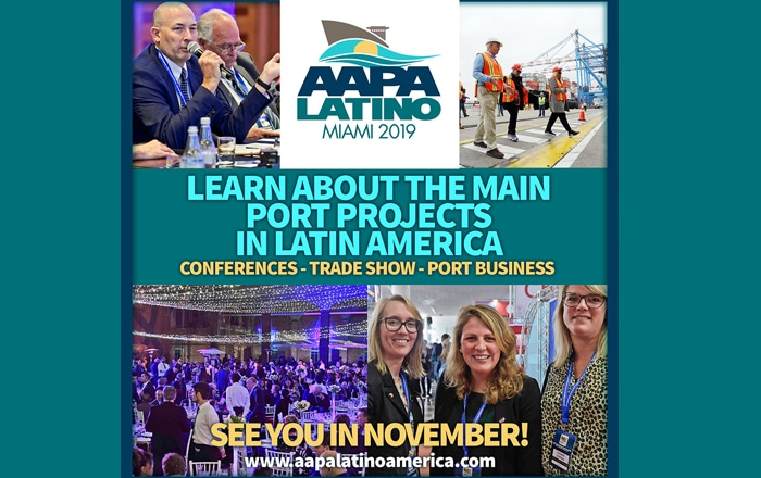 #AAPALATINO In Miami The Unmissable Event Of The Port And Maritime Industry.
