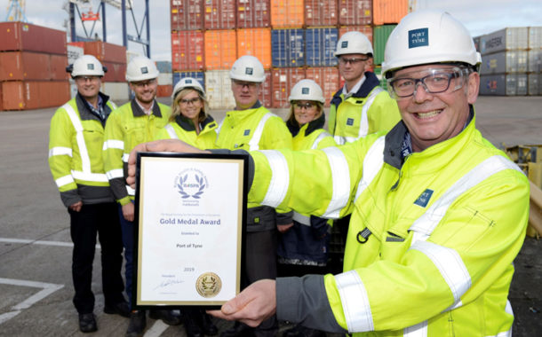Port Of Tyne Awarded RoSPA Gold Medal For Health And Safety Practices.