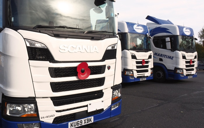 Maritime Delivers The Poppy Appeal To UK Roads.
