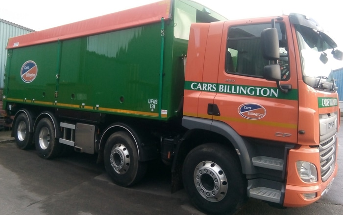 Carrs Billington To Maximise Fleet Efficiency With End-To-End Solution From Microlise.