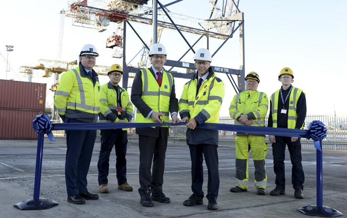 Port Of Tyne Completes Multi Million Pound Container Terminal Extension.